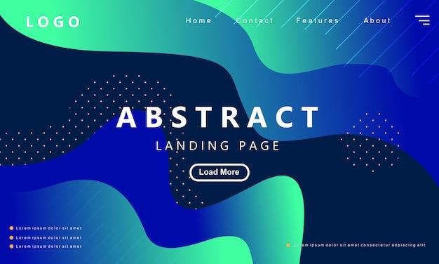 Blaue landungseite der modernen abstrakten steigung Premium Vektoren