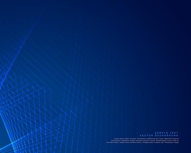 Blaue linien hintergrund vektor-design Kostenlosen Vektoren