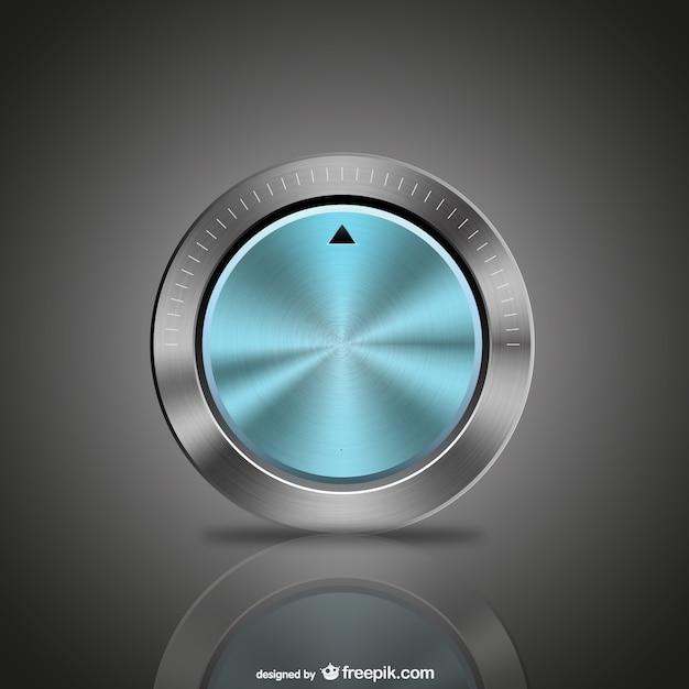 Blaue metallknopf Kostenlosen Vektoren