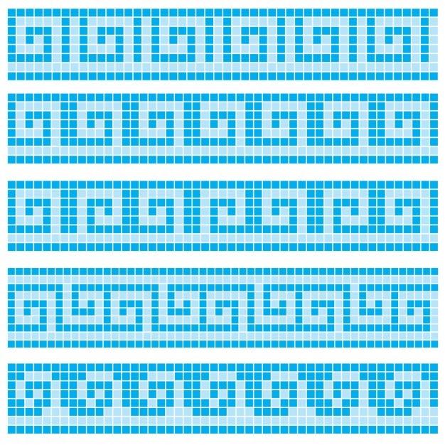 Blaue Mosaikfliesen  Download der kostenlosen Vektor