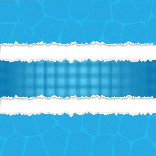 Blaue papierstück strips Kostenlosen Vektoren