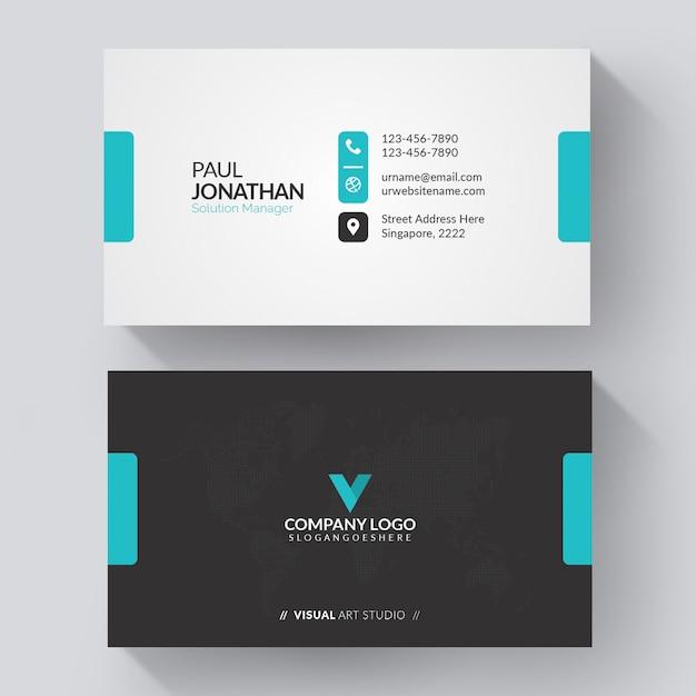 Blaue und weiße visitenkarte Kostenlosen Vektoren
