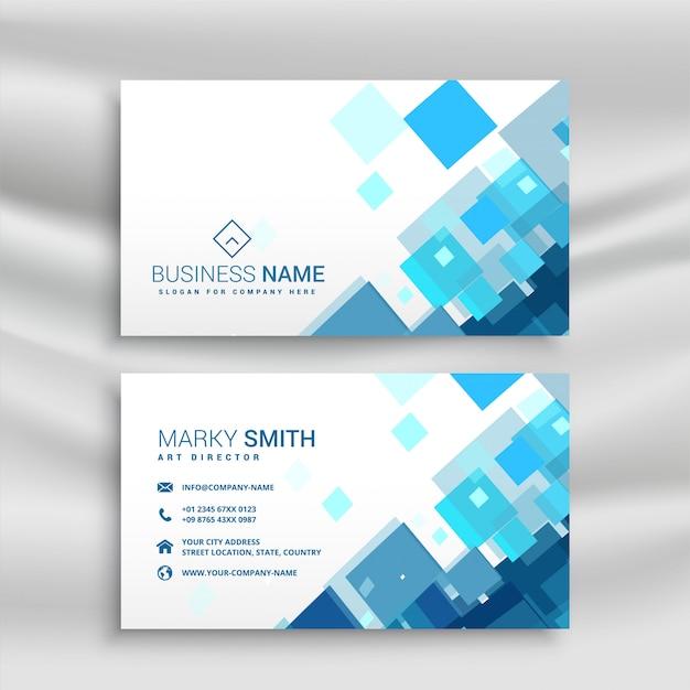 Blaue Visitenkarte Design Vorlage Kostenlose Vektor