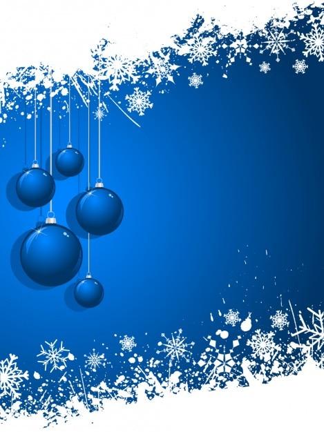 Weihnachtskugeln Blau.Blaue Weihnachtskugeln Hintergrund Download Der Kostenlosen Vektor