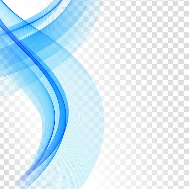 Blaue welle modern isoliert Kostenlosen Vektoren