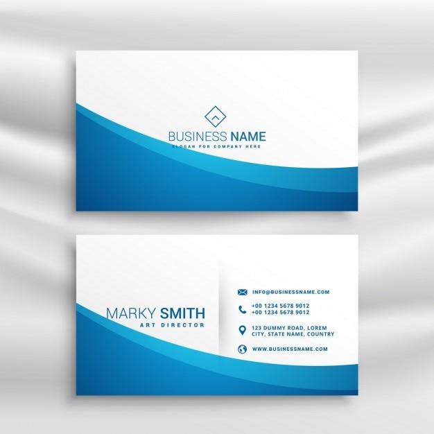 Blaue Welle Visitenkarten Vorlage Download Der Kostenlosen