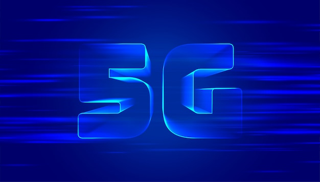 Blauer 5g fünfter generatitechnology hintergrund Kostenlosen Vektoren