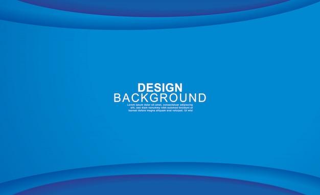 Blauer abstrakter hintergrund des papierschichtkreises. Premium Vektoren