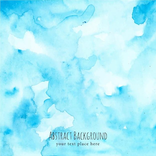 Blauer abstrakter hintergrund mit aquarell Premium Vektoren
