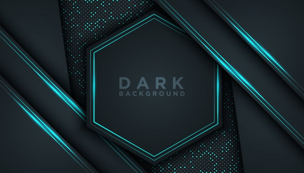 Blauer abstrakter maß-schwarz-hintergrund Premium Vektoren