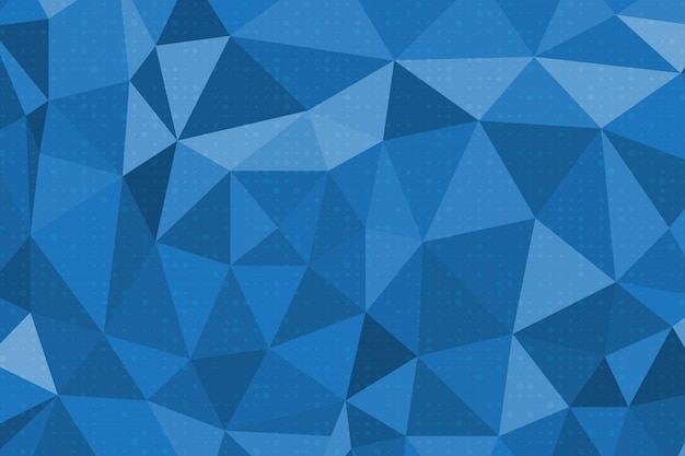 Blauer abstrakter polygonhintergrund Premium Vektoren