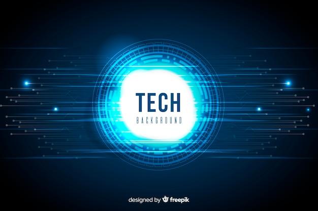 Blauer abstrakter technologiehintergrund Kostenlosen Vektoren
