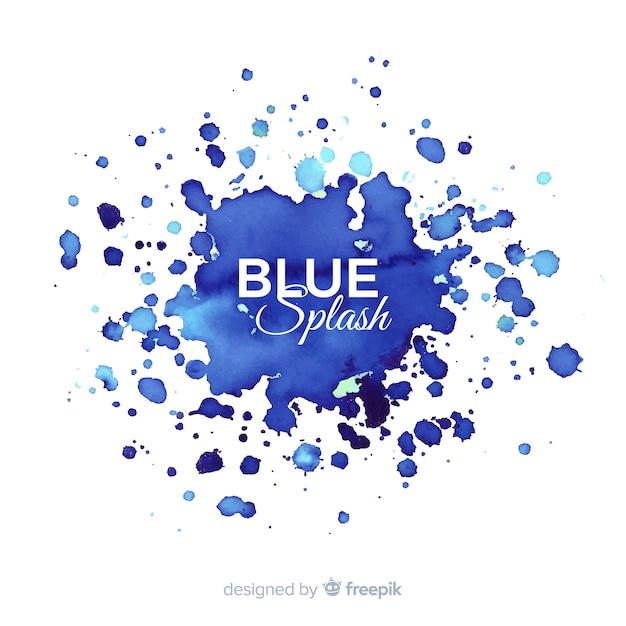Blauer aquarell spritzen hintergrund Kostenlosen Vektoren