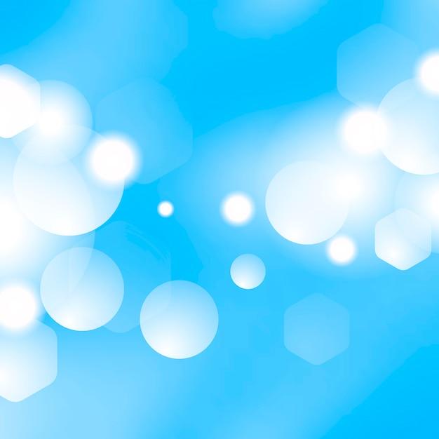 Blauer bokeh-hintergrund Kostenlosen Vektoren
