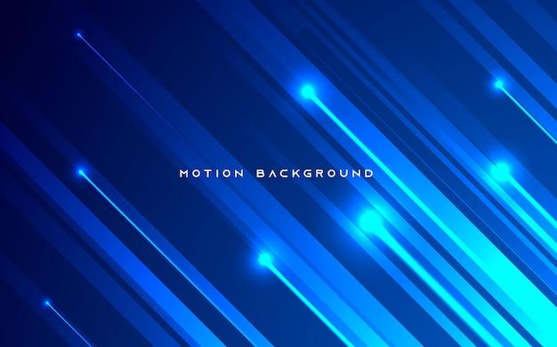 Blauer diagonaler bewegungslichthintergrund Premium Vektoren