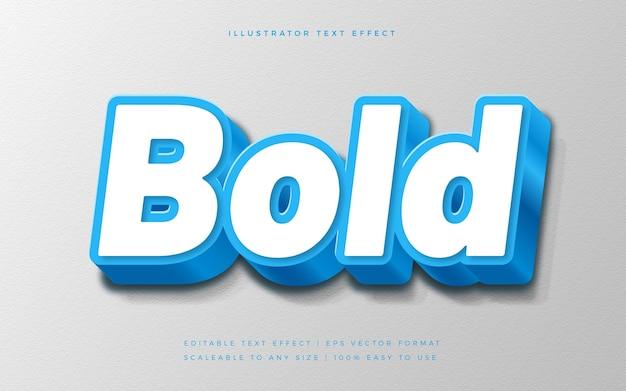 Blauer fettdruck im 3d-textstil Premium Vektoren