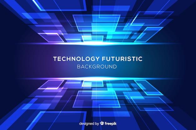 Blauer futuristischer hintergrund mit formen Kostenlosen Vektoren