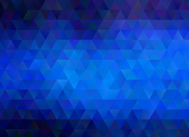 Blauer geometrischer zerknitterter dreieckiger niedriger polyartsteigungs-grafikmehrfarbenhintergrund. polygonales design für ihr unternehmen. Premium Vektoren