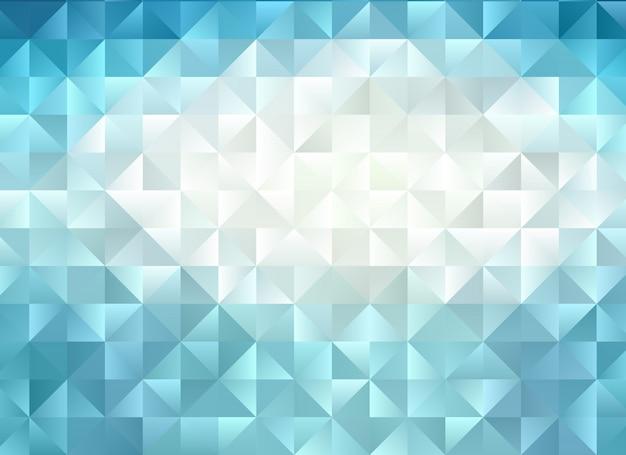 Blauer geometrischer zerknitterter dreieckiger niedriger polyartsteigungs-grafikmehrfarbenhintergrund. Premium Vektoren
