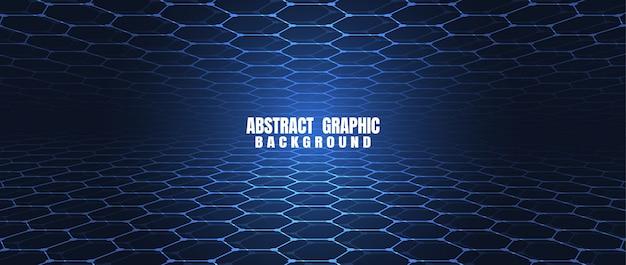 Blauer hexagonmusterhintergrund der abstrakten technologie Premium Vektoren