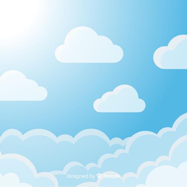 Blauer himmel hintergrund Kostenlosen Vektoren