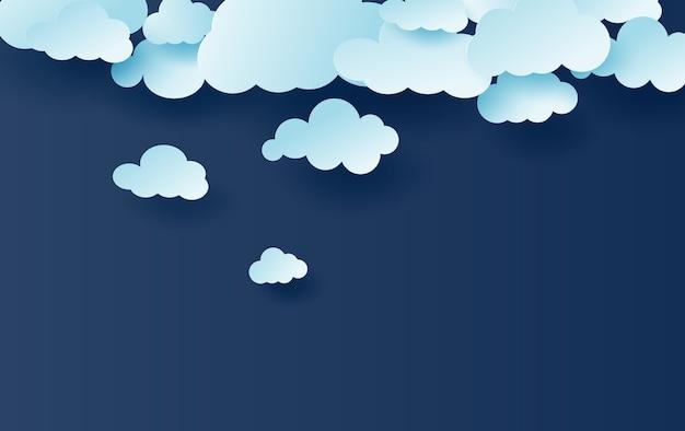 Blauer himmel weiße wolken Premium Vektoren
