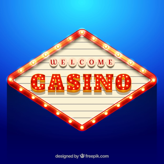Blauer hintergrund der casino-billboard Kostenlosen Vektoren