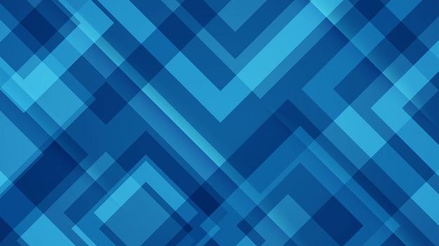 Blauer hintergrund mit geometrischen mustern. Premium Vektoren