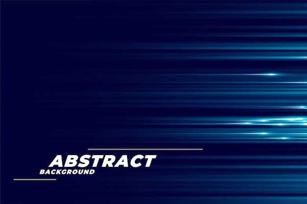 Blauer hintergrund mit glühenden horizontalen linien Kostenlosen Vektoren