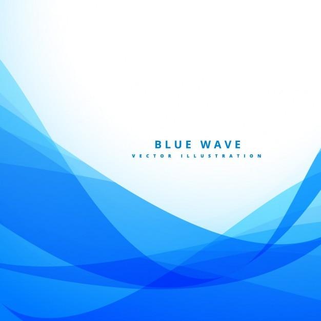 Blauer hintergrund mit wellenformen Kostenlosen Vektoren