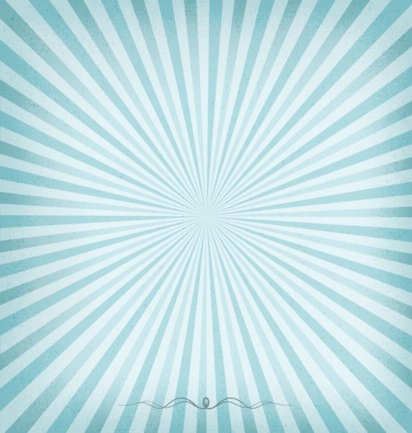 Blauer hintergrund sunburst Premium Vektoren