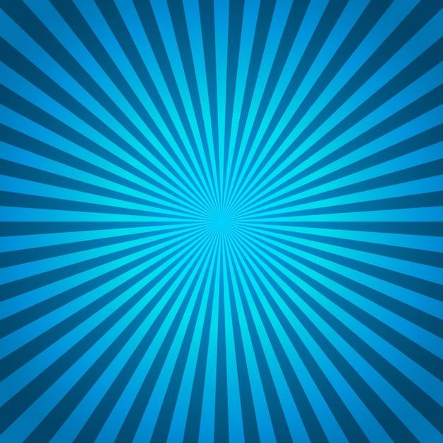 Blauer hintergrund von radialen linien in der komischen art Premium Vektoren