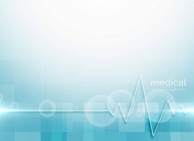 Blauer hintergrundhintergrund der medizinischen wissenschaft Kostenlosen Vektoren
