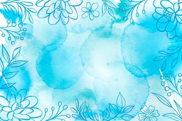 Blauer pulverpastellhintergrund Kostenlosen Vektoren