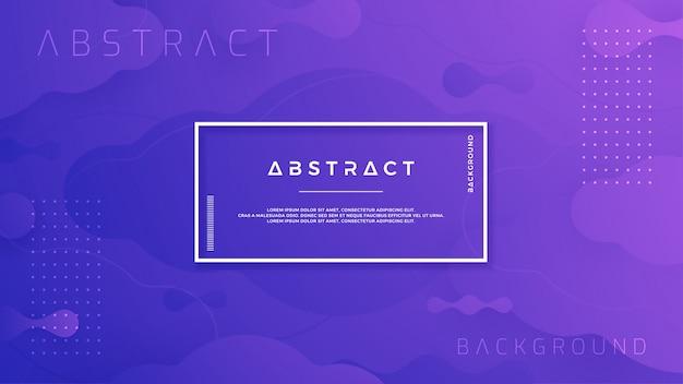 Blauer purpurroter abstrakter flüssiger hintergrund. Premium Vektoren