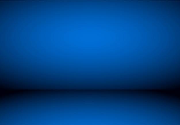 Blauer studio-farbverlauf im leeren raum Kostenlosen Vektoren
