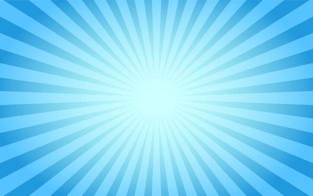 Blauer sunburst abstrakter weinlesehintergrund. Premium Vektoren
