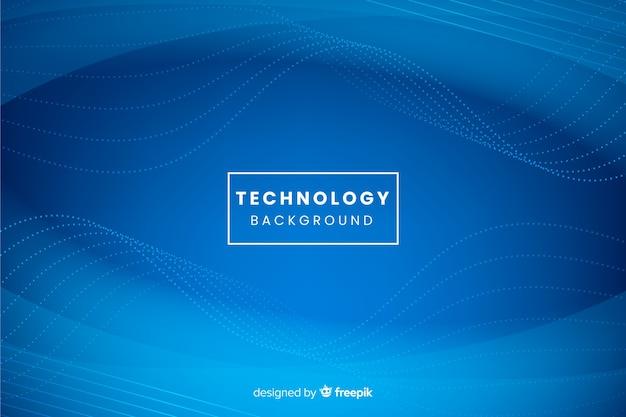 Blauer technologiehintergrund Kostenlosen Vektoren