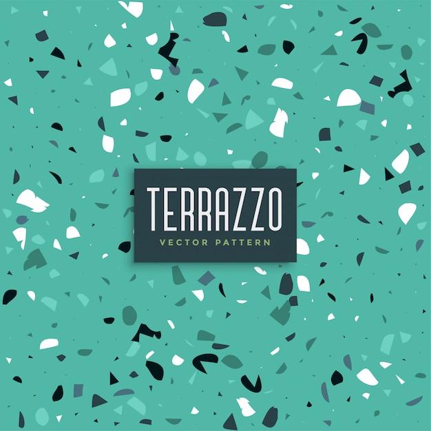 Blauer terrazzo-beschaffenheitsmusterhintergrund Kostenlosen Vektoren