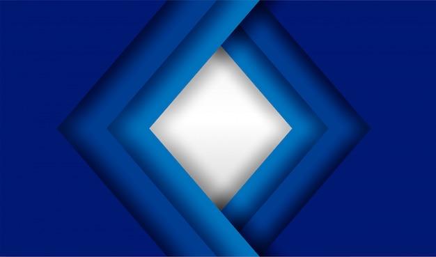 Blauer überlappungshintergrund Premium Vektoren