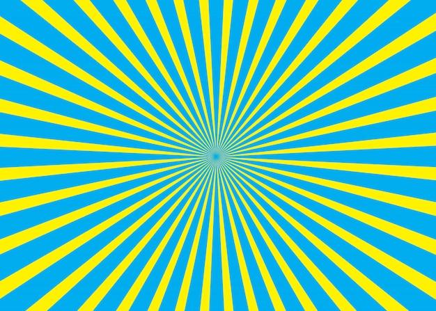 Blauer und gelber sonniger hintergrund Premium Vektoren