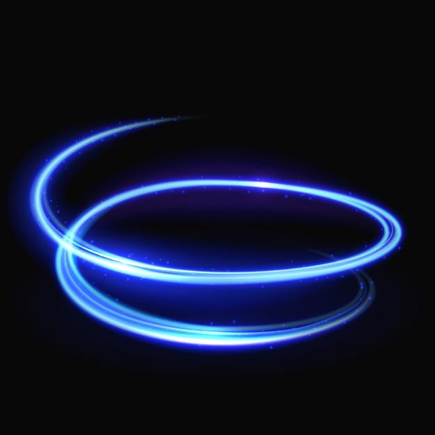 Blauer vektorlichtstrudel Premium Vektoren