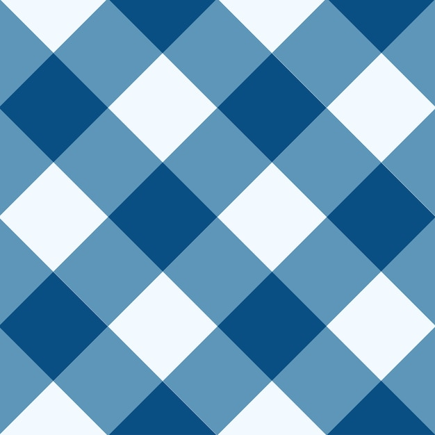 Blauer weißer diamant-schachbrett-hintergrund snorkel Premium Vektoren