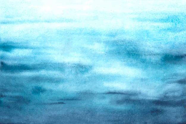 Blauer wellenhintergrund des aquarellozeans Kostenlosen Vektoren