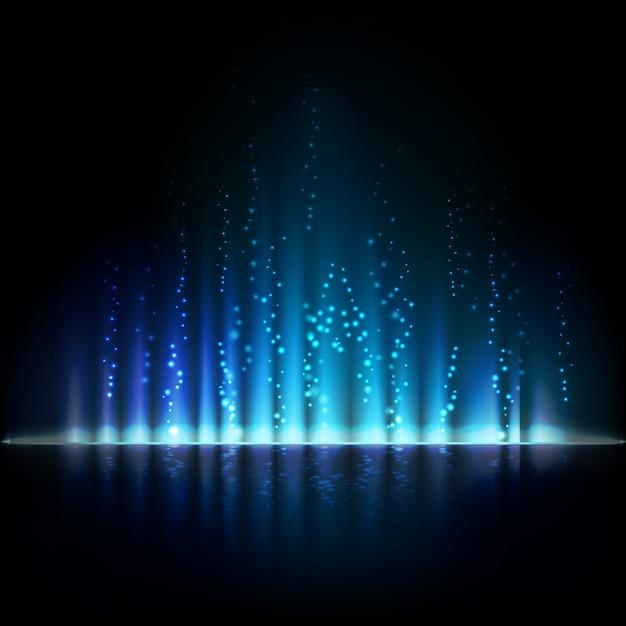 Blaues aurora-licht. abstrakter hintergrund Premium Vektoren