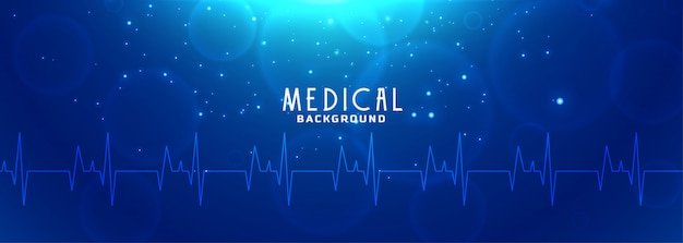 Blaues banner für gesundheitswesen und medizin Kostenlosen Vektoren
