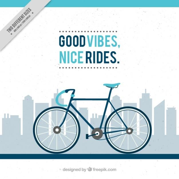 Blaues fahrrad Kostenlosen Vektoren