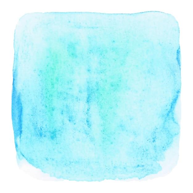 Blaues grunge aquarell auf weißem hintergrund Premium Vektoren