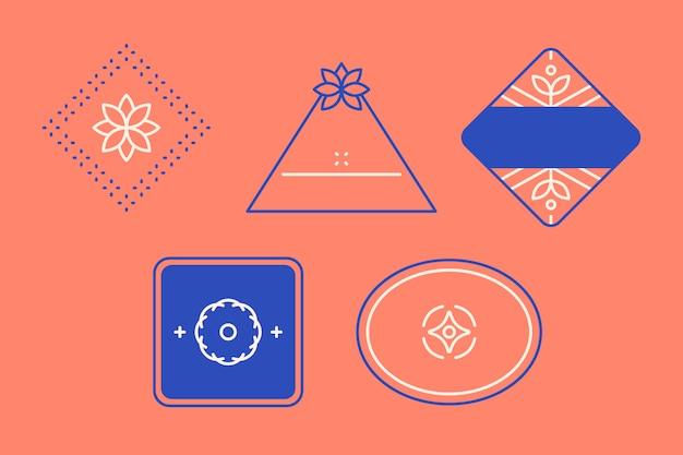 Blaues logo-design-set Kostenlosen Vektoren