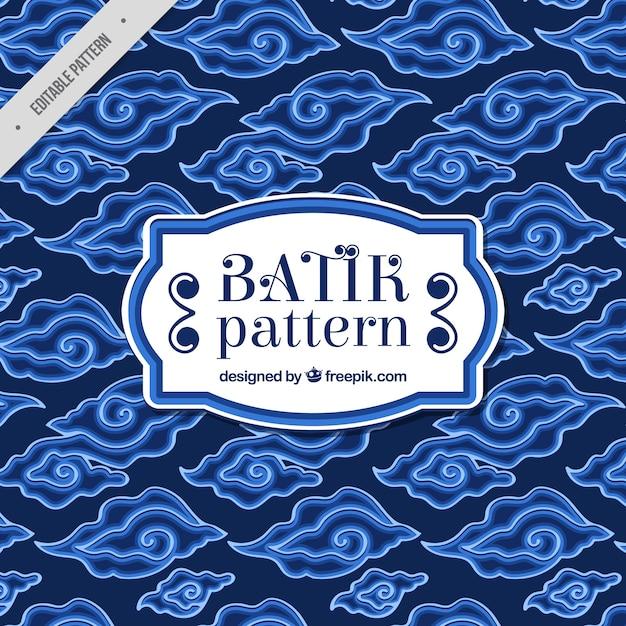Blaues muster des abstrakten batikformen Kostenlosen Vektoren
